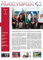 Cover photo of the magazine Paralympian with Paralympian Ambassadors and IPC President Sir Philip Craven in the story: Ambassadors of the Paralympic movement.