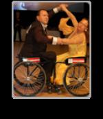 Two wheelchair dancers posing