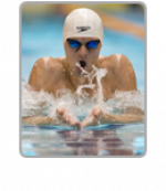 Athlete swimming.