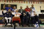 Medal ceremony at the Wheelchair Fencing World Championships in Eger Hungary.