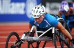 Female wheelchair racer