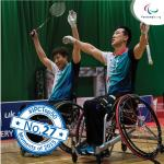 'Top 50 moments 2015  No 27 Badminton joins Paralympic programme' logo