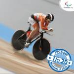 'Cyclist goes around trackl' logo