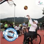 'Sir Philip playing wheelchair basketball in Rio' logo