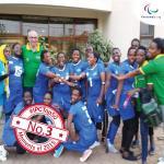 'Rwandas womens sitting volleyball team' logo