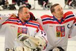 Jan Matousek and Zdenek Safranek at the 2015 IPC Ice Sledge Hockey World Championships A-Pool in Buffalo, USA.
