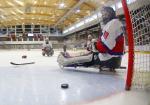 Kjell Christian Hamar at the 2015 IPC Ice Sledge Hockey World Championships A-Pool in Buffalo, USA.