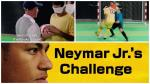 Brazil star Neymar Jr. plays blind football