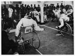 Wheelchair fencing at the Tokyo 1964 Paralympic Games.