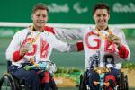 Silver medalist Alfie Hewett and gold medalist Gordon Reid at Rio 2016