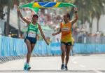 Edneusa De Jesus Santos Dorta BRA Bronze Medal winner in the Women's T12 Marathon at Fort Copacabana.