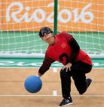 Goalball sports icon