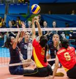 Sitting volleyball sports icon