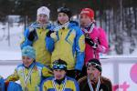 Para biathletes celebrate their World Cup podiums