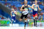 Liam Malone of New Zealand competes in the Men's 400m - T44 final during day 8 of the Rio 2016 Paralympic Games