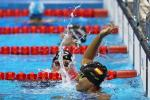 Teresa Perales of Spain celebrates winning the gold medal in the Women's 50m Backstroke - S5 on day 9 of the Rio 2016 Paralympic Games