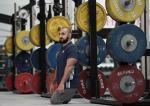 'Ali Jawad of Paralympics GB Powerlifting Team poses for a portrait during the Paralympic Team Announcement' logo