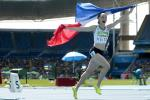 France's Nantenin Keita celebrates victory in the women's 400m T13 final at the Rio 2016 Paralympic Games.