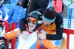 a Para skier smiling after his run