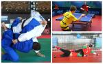 young Para athletes compete in table tennis, boccia and judo
