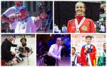 five Para athletes compete in their sports