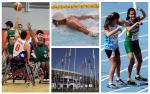 Para athletes compete in the sun at athletics, swimming and wheelchair basketball