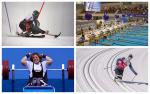 skiers, powerlifters and swimmers competing at their sports