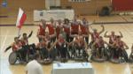 Poland celebrates victory over Finland.