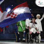 a team of Para athletes on parade