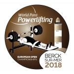 The official logo of the 2018 World Para Powerlifting European Open Championships