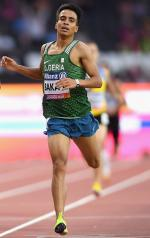 Abdellatif Baka of Algeria competes in the Men's 1500m T13 Final at the London 2017 World Para Athletics Championships.