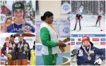 five Para athletes celebrating wins