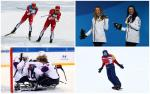 winter Para athletes competing at their sports