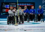 wheelchair curlers in action