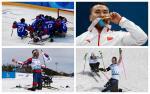 athletes celebrating victory
