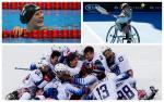 Para athletes celebrating winning