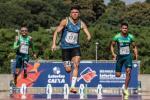 Petrucio Ferreira running in the 100m T47