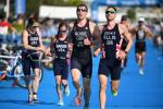 Triathletes transition from swimming segement