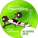 the official logo of the 2018 World Para Powerlifting African Championships