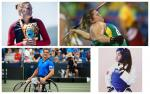 Para athletes Gustavo Fernandez, Elizabeth Gomes, Claudia Romero and Allysa Seely