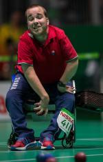 male boccia player Samuel Andrejcik