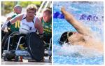 Australian Para athlete Cameron Leslie competing in both wheelchair rugby and swimming