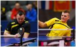 male Para table tennis players Thomas Bruechle and Thomas Schmidberger in action