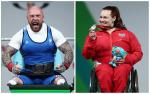 British powerlifters Micky Yule and Louise Sugden competing