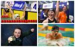 Para swimmers Ihar Boki, Liesette Bruinsma, Ellen Keane and Yelyzaveta Mereshko celebrating their wins