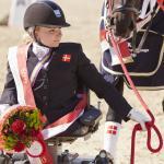 female Para equestrian rider Stinna Tange Kaastrup