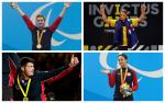 Para athletes Brad Snyder, Curtis McGrath, Dave Henson and Elizabeth Marks on the podium