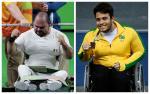 male Para powerlifters Jose de Jesus Castillo Castillo and Mateus de Assis Silva