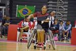 female Para badminton player Pilar Jauregui