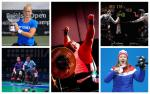 five Para athletes competing in boccia, wheelchair tennis, wheelchair fencing, powerlifting and Nordic skiing